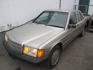 1985 Mercedes 190e Car, parts car and many extras $600.