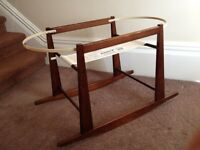 Jolly Jumper Rocking Bassinet / Basket Stand - Espresso