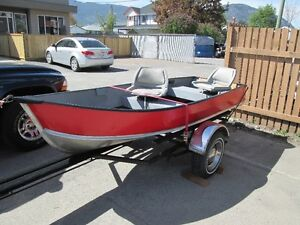 12' Fishing Boat, Trailer, and 6hp.Evinrude, complete!!