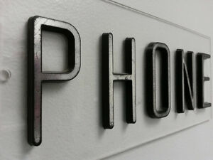 Vintage Payphone Phone Booth Sign 1960's