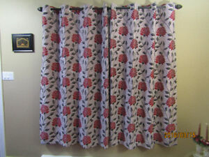 LIKE NEW: Grommet drape  each panel 52 X 72...$10.00 per panel