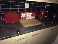 Kettle and toaster with other accessories