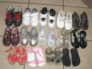 14 New or gently used Baby Shoes/Boots size 5-7, most size 5-6,