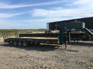 Gooseneck trailer, goose neck trailer, equipment trailer, float
