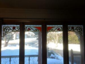 4  vitraux pour fenêtre
