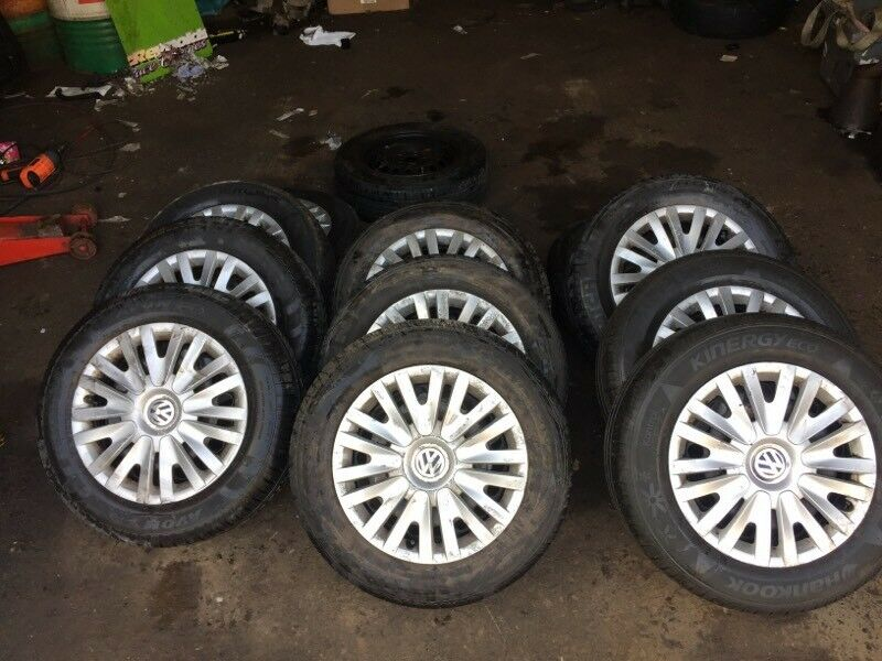 "Selection of VW Volkswagen Golf 15"" wheels with tyres 15"" Part worn"