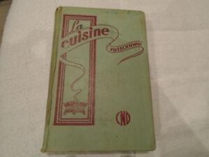 ancien livre de recette la cuisine raisonnée 1954