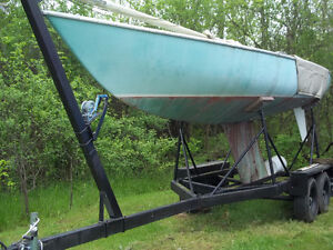 27' Soling Race Boat with trailer