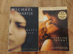 Michael Ondaatie books $4 each or $6 for both
