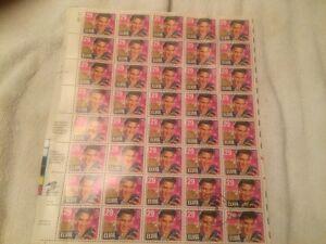 timbres elvis presley 29 usa  feuillet de 40 timbres pour $105