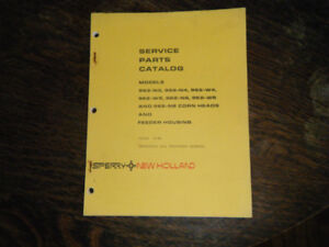 New Holland 962-N3, 962-N4 Corn Heads Service Parts Catalog