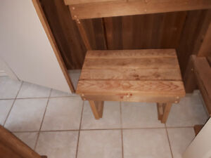 dry sauna bench/rocks and cover