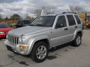 2004 JEEP LIBERTY LTD EDTION FULLY LOADED CAR FAX CLEAN CERT.