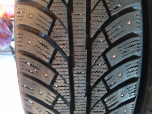 4.    205/65/15 in excellent condition winter studded