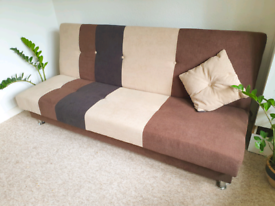 "(LIKE NEW RRP £320) Beautiful ""Click Clack"" Sofabed with Storage"