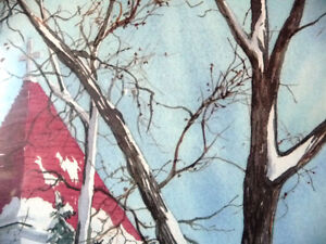 """Hand Signed and Titled Lithograph by Terry Kleemola """"The Chapel"""" Stratford Kitchener Area image 9"""