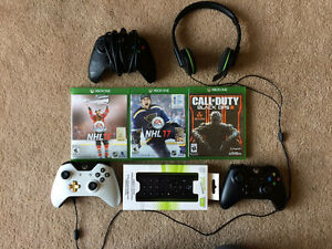 Xbox One w/ games + accessories