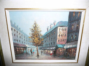 "Henry Rogers ""Paris Street, Evening"" Original Oil Painting Stratford Kitchener Area image 2"