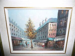 "Henry Rogers ""Paris Street, Evening"" Original Oil Painting Stratford Kitchener Area image 2"