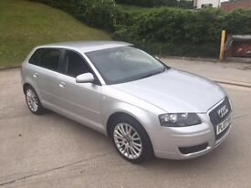 **FULL SERVICE HISTORY+LADY OWNER+AUDI A3 SE TDI SPORTBACK 2.0 DIESEL (2007 YEAR)**