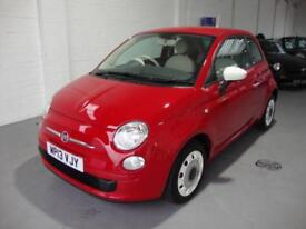 Fiat 500 1.2 ( 69bhp ) Colour Therapy, 2013, Red, £30 Road Tax, Red/Cream Trim