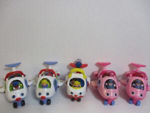 5 Avions  Little People Au Chois $12Chaque