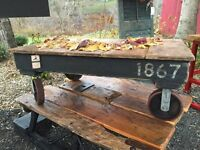 Industrial Style Cart Table