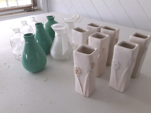 Wedding Decorations - 15 small vases