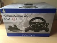 Official Sony PlayStation Licensed Hurricane Steering Wheel (PS4 / PS3)