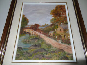 """For trade: """"Cottage"""", signed by Ann Mae Millan"""