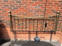 Brass headboard double bed 5ft French shabby chic bedroom guest room