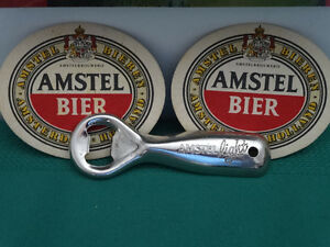 Amstel Beer Flag Banner, Bottle Opener, Poster and Coasters