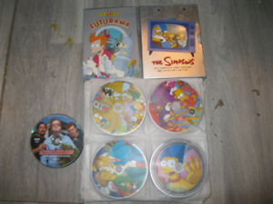 Simpsons+Futurama dvd's