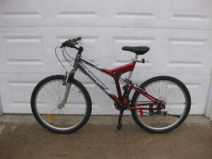 RALEIGH 21 speed full suspension aluminum frame mountain bike