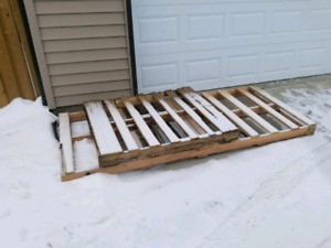 Two Pallets - One Standard Size; One Extra Long
