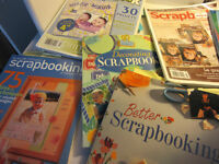 Eleven Scrapbooking Books and magazines