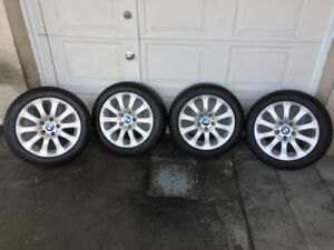 Mags BMW 328i + Pneus Hiver MICHELIN RUNFLAT 225-50-17