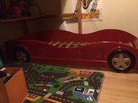 Kids bed racing car frame