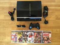 80gb PLAYSTATION 3 (PS3) CONSOLE with 6 GAMES £50 no offers