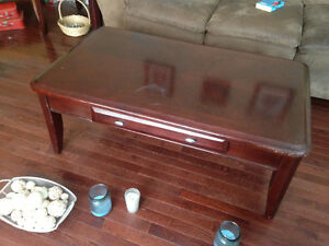 Wooden Coffee Table 2 End Tables