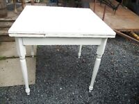 small antique  wooden kitchen table