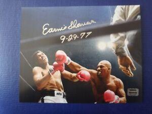 Earnie Shavers Autographed 10 x 8 Photo with Earnie Shavers COA