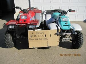 2 ATV's for sale
