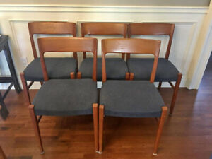 Vintage Mid Century Modern Svegards Markaryd Dining Chairs