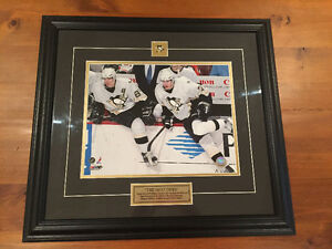 FRAMED OFFICIAL PHOTO OF SYDNEY CROSBY AND EVGENI MALKIN