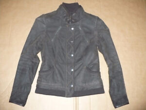 DANIER Leather Jacket 2XS Brown EUC