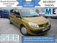 **£45 A WEEK** Renault Grand Scenic 1.6 VVT Authentique 7 SEAT MPV, MOT RCL EW