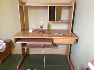 Beautiful wood computer desk