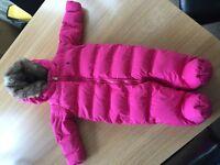 Ralph Lauren girls faux fur snowsuit