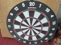2 PROFESSIONAL STYLE DART BOARDS  -  3 SETS OF DARTS